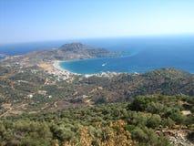 De kust van Cretes beautifull Stock Afbeeldingen