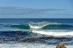 De kust van de Atlantische Oceaan, Cape Town Stock Afbeelding