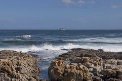 De kust van de Atlantische Oceaan, Cape Town Royalty-vrije Stock Afbeeldingen