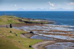 De kust van de Atlantische Oceaan in IJsland Royalty-vrije Stock Foto's