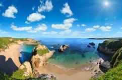 De kust van de Atlantische Oceaan, Spanje Stock Foto's
