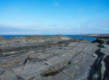 De kust van de Barentsz Zee Stock Foto