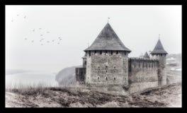 De kust van de kasteelmist Royalty-vrije Stock Foto
