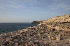 De kust van de klip in Ajuy - Fuerteventura Stock Afbeeldingen
