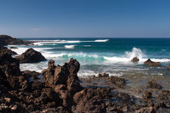De kust van de lava Stock Afbeelding