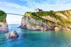 De kust van de Newquayatlantische oceaan, Cornwall, Engeland Royalty-vrije Stock Afbeelding