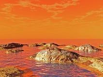 De Kust van de rots stock illustratie