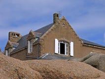 De kust van de steen dichtbij Ploumanach, Bretagne, Frankrijk Royalty-vrije Stock Foto