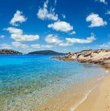 De kust van de zomersithonia, Chalkidiki Royalty-vrije Stock Afbeelding