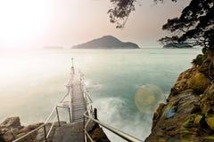 De kust van de zonsondergang Royalty-vrije Stock Afbeeldingen