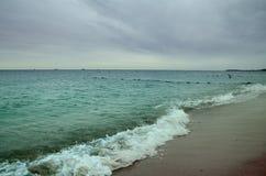 De kust van de Zwarte Zee Stock Afbeelding