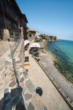 De kust van de Zwarte Zee van Bulgarije Stock Foto's