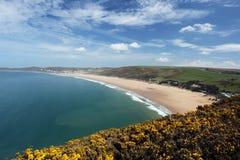 De kust van Devon van het Woolacombenoorden Stock Foto's
