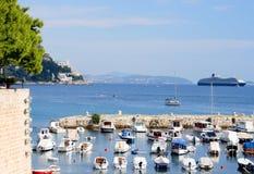 De Kust van Dubrovnik Royalty-vrije Stock Afbeeldingen