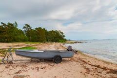 De kust van Finland stock foto's
