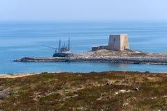 De kust van Gargano (Apulia, Italië) bij de zomer royalty-vrije stock fotografie
