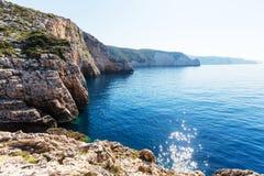 De kust van Griekenland Stock Afbeeldingen