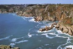 De kust van Guernsey royalty-vrije stock fotografie