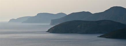 De kust van het Eiland Kalymnos Stock Foto's