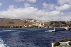 De kust van het eiland van La Gomera stock afbeelding
