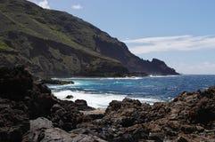 De kust van het eiland van La Palma Stock Foto's