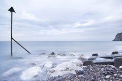 De kust van het filterwerk van llandudno Royalty-vrije Stock Foto
