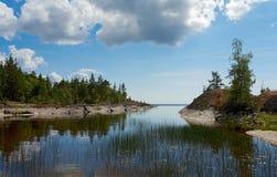 De kust van het graniet van Ladoga Royalty-vrije Stock Foto