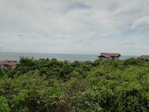 de kust van het guantouling van nationaal bospark in beihai royalty-vrije stock afbeeldingen
