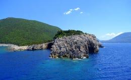 De kust van het Ithacaeiland, Griekenland Stock Afbeelding