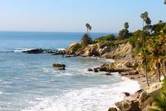 De Kust van het Laguna Beach Stock Afbeeldingen