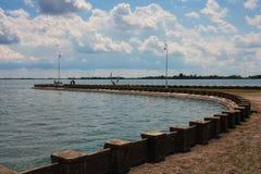 De kust van het meer stock foto
