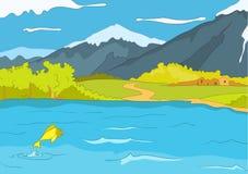 De Kust van het meer royalty-vrije illustratie