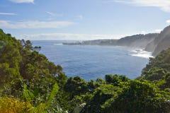 De Kust van het noorden van Maui, HALLO Stock Foto's