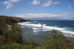 De Kust van het Noorden van Maui Hawaï Stock Afbeeldingen