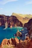 De kust van het oosten van het eiland van Madera, Ponta DE Sao Loure royalty-vrije stock fotografie