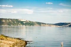 De kust van het reservoir Stock Foto