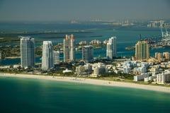 Het strand en de waterkant van Miami Royalty-vrije Stock Foto