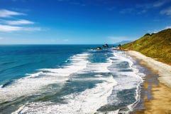 De Kust van het westen, Nieuw Zeeland Stock Afbeelding