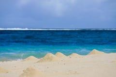 De kust van het zeegezichtlandschap. Stock Foto
