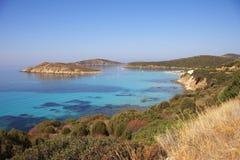 De kust van het zuiden in Sardinige Stock Foto's