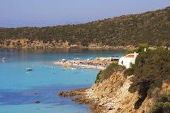 De kust van het zuiden in Sardinige Royalty-vrije Stock Foto's