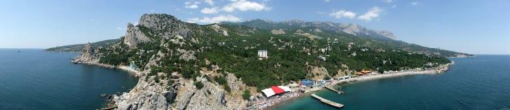 De kust van het zuiden van de Krim. De Oekraïne Stock Foto