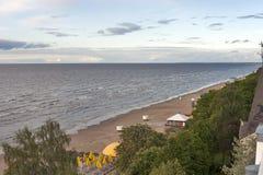 De kust van Jurmala Royalty-vrije Stock Afbeelding