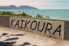 De kust van Kaikoura Stock Afbeelding