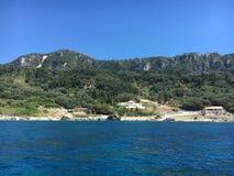De kust van Korfu Royalty-vrije Stock Fotografie