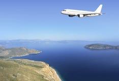 De kust van Kreta van de luchtbus stock foto's