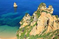De kust van Lagos, Algarve in Portugal Royalty-vrije Stock Foto's