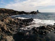 De kust van Lasgalletas Stock Afbeeldingen