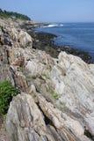 De Kust van Maine de Atlantische Oceaan Stock Fotografie