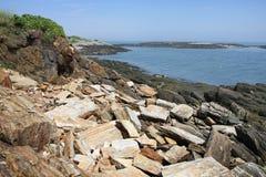 De Kust van Maine de Atlantische Oceaan Stock Foto